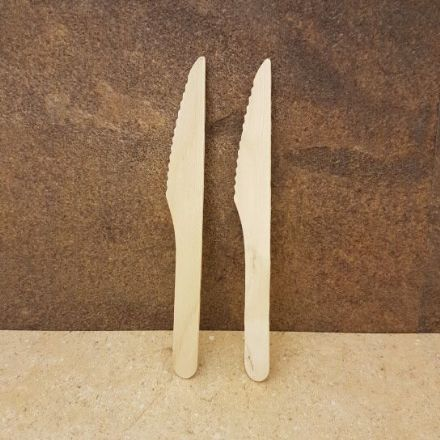 Disposable Wooden Knife x 100 Pack